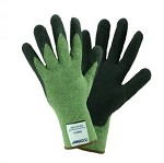 West Chester 713KSSN-2X 13g Kevlar/Steel Cut Resistant Gloves- Green/Black